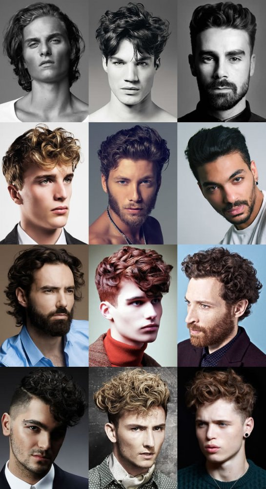 Модные мужские прически для вьющихся волос