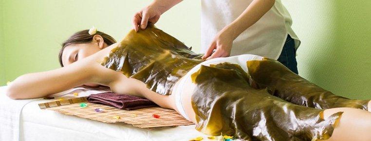 Талассогоммаж тела с водорослевым обертыванием