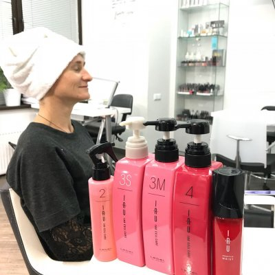 Абсолютное счастье для волос, шаги 8-10: нанесение протеиновой сыворотки, восстанавливающих кремов и фиксирующего масла